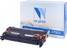 Картридж NV Print Q7581A для принтеров HP LaserJet Color CP3505/ 3800, 6000 страниц