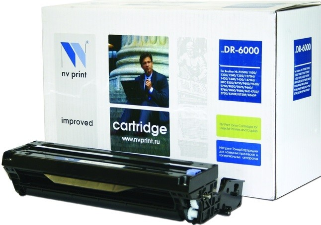 Барабан NV Print DR-6000 для принтеров Brother HL-1030/ 1230/ 1240/ 1250/ 1270N/ 1430/ 1440/ 1450/ 1470N/ P2500/ FAX-8350P/ 8360/ 8360PLT/ 8750P/ MFC-9650/ 9750/ 9760/ 9850/ 9870/ 9660/ 9860/ 9880, 20000 страниц