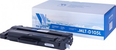 Картридж NV Print MLT-D105L для принтеров Samsung ML-1910/ 1915/ 2525/ 2540/ 2580N/ SCX-4600/ 4623F/ 4623FN/ SF-650, 2500 страниц