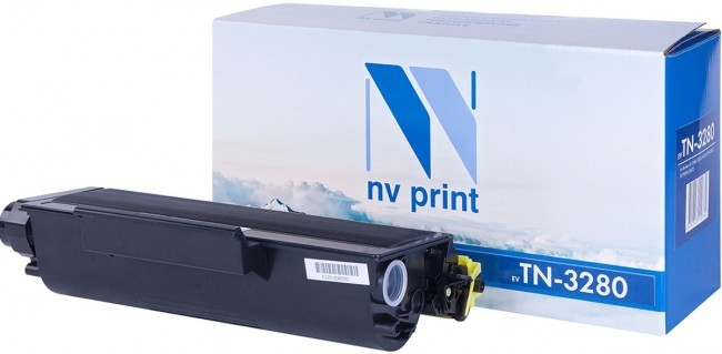 Картридж NV Print TN-3280T для принтеров Brother HL-5340D/ 5350DN/ 5370DW/ MFC-8370/ 8880/ DCP-8085/ 8070D, 8000 страниц